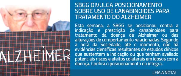 : SBGG divulga posicionamento sobre uso de canabinoides para tratamento do Alzheimer