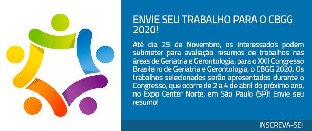 Envie seu trabalho para o CBGG 2020!