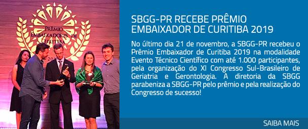 SBGG-PR recebe Prêmio Embaixador de Curitiba 2019